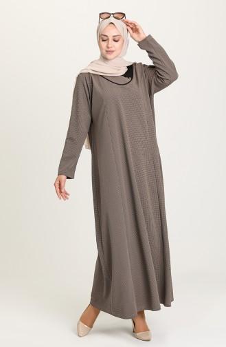 Mink Hijab Dress 4756-06