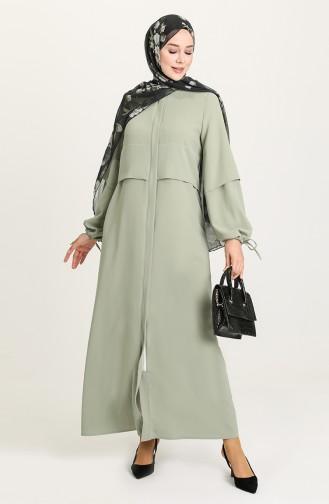 Abayas Vert Clair 8006-04