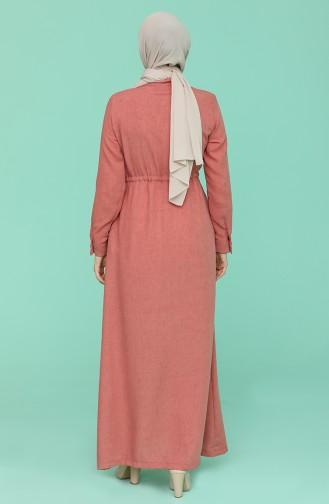 Abayas Rose Pâle 6848-09