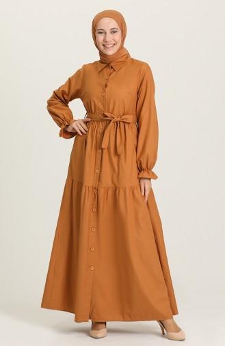 Robe Hijab Tabac 21Y8245B-07