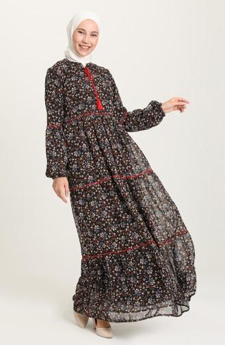 Black Hijab Dress 21Y8278A-01
