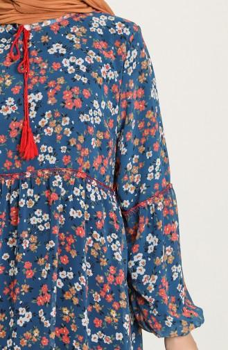 Indigo Hijab Dress 21Y8278A-06