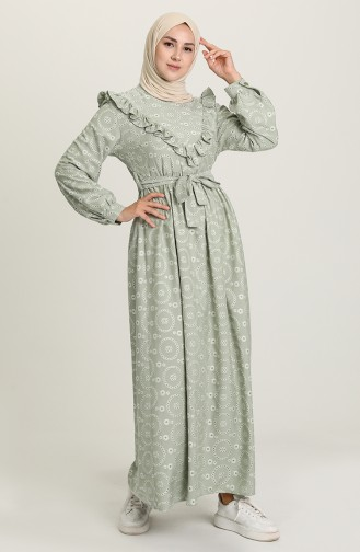 Robe Hijab Vert noisette 21Y8417-06