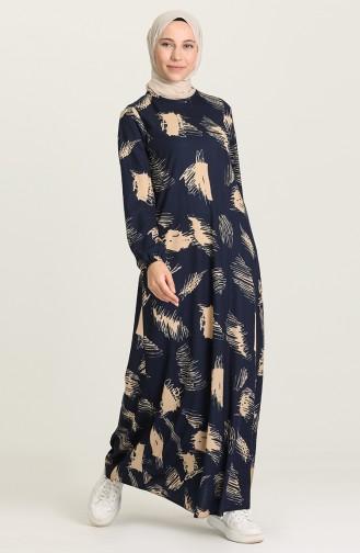 Robe Hijab Bleu Marine 5642-04