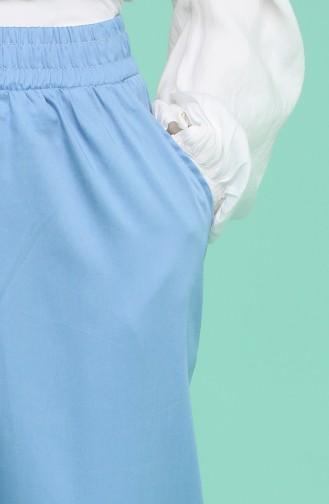 Cepli Bol Paça Pantolon 0159-29 Koyu Mavi