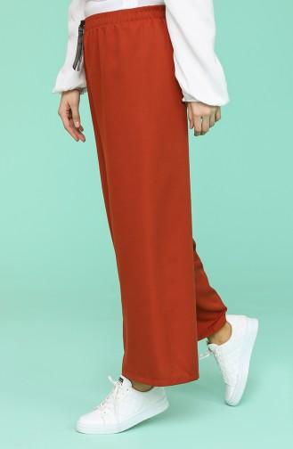 Pantalon Couleur brique 4479-09