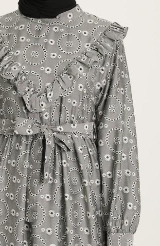 Robe Hijab Gris 21Y8417-01
