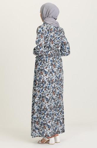 Robe Hijab Indigo 9076-01