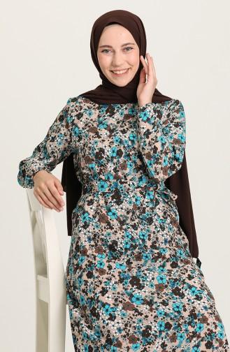فستان بُني 9076-02