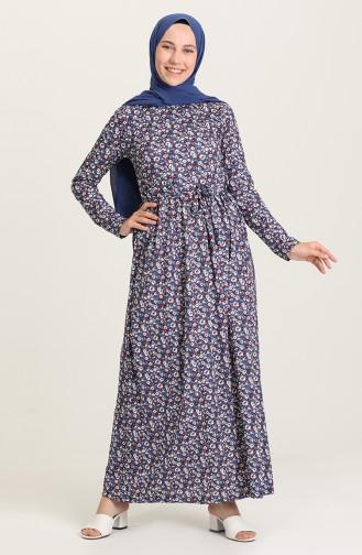 فستان نيلي 1031-02