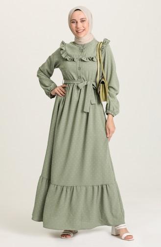 Robe Hijab Vert noisette 21Y8302-02