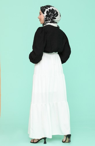 Jupe Blanc 1020211ETK-04