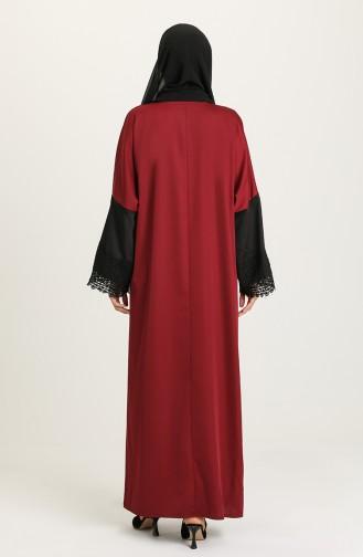 Claret red Abaya 0102-02
