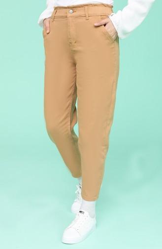 Gabardin Kumaş Kot Pantolon 7511-04 Camel
