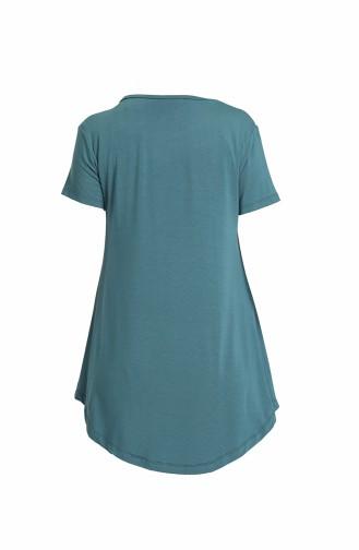 T-Shirt Bleu Pétrole 6412-03