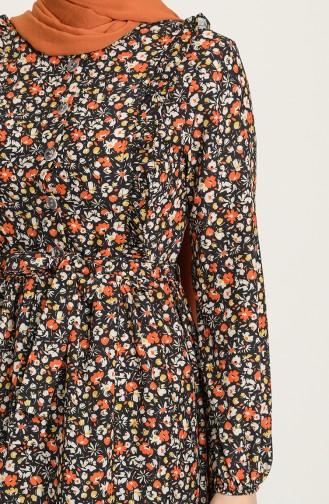 فستان برتقالي 0630-04