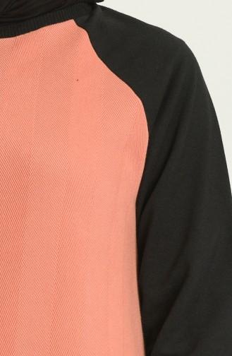 İki Renk Eşofman Takım 21052-03 Gül Kurusu
