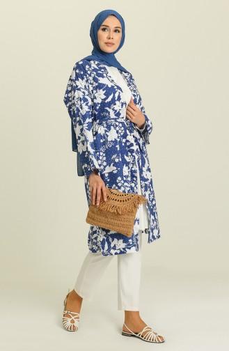 Kimono أزرق كحلي 5380-04