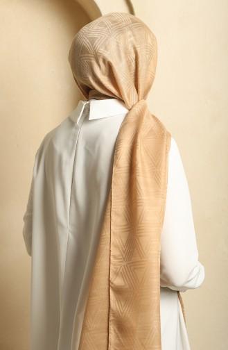 Üçgen Desen Jakar Şal 19069-07 Camel