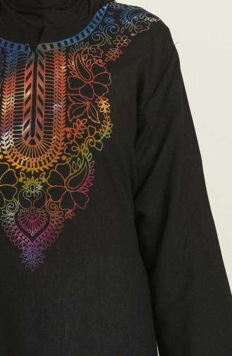 Black Hijab Dress 5004A-01