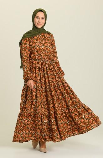 Khaki Hijab Dress 2023-01