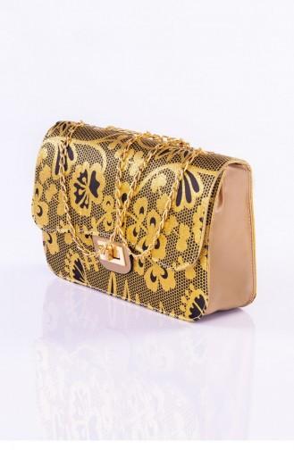 Gold Shoulder Bags 3127