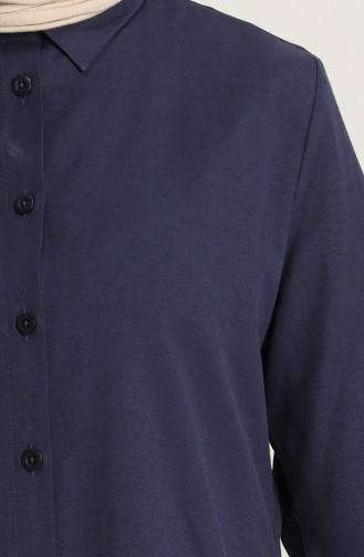 Düğmeli Gömlek 2150-04 Lacivert