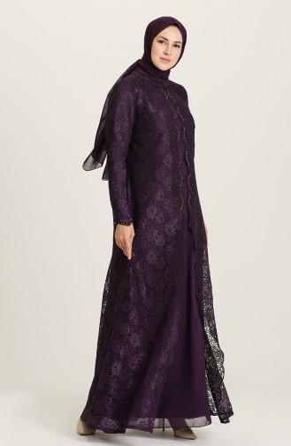 Habillé Hijab Pourpre 1319-05