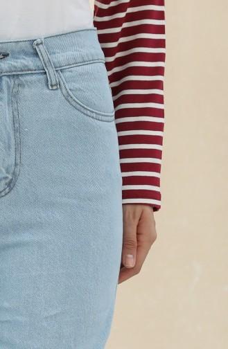 Pantalon Bleu Glacé 7514-02