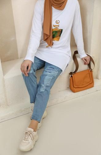 Pantalon Bleu Jean 7514-01