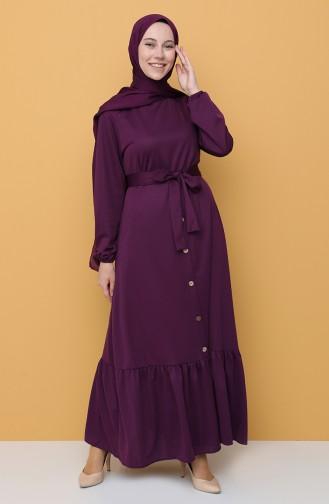 Lila Hijap Kleider 3001-06