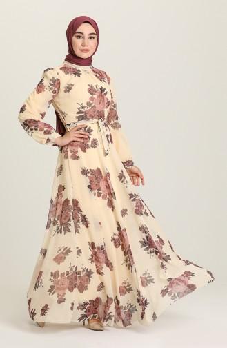 Dusty Rose Hijab Dress 14725-02
