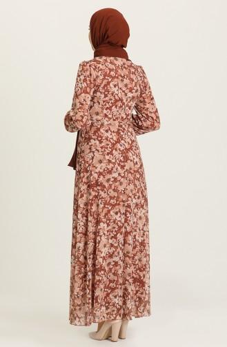 Tan Hijab Dress 7102-02
