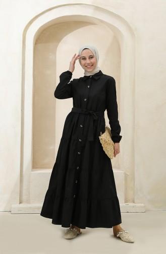 Black Hijab Dress 1425-07