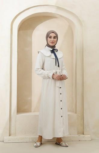 Beige Hijab Dress 4340C-01