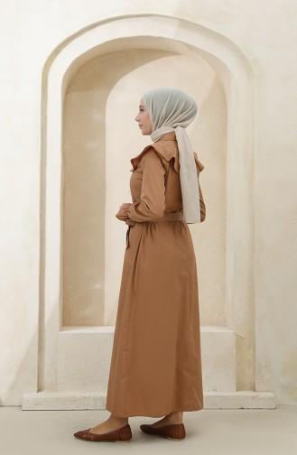 فستان كستنائي 4340D-02