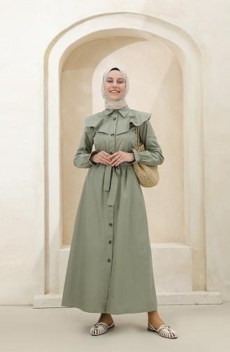 Khaki Hijab Dress 4340D-03