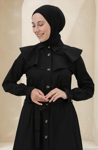 Black Hijab Dress 4340D-05