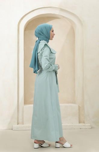 Robe Hijab Vert noisette 4340D-06