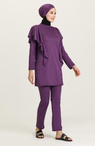Maillot de Bain Hijab Plum 02125-03