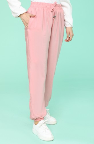 Pantalon Rose Orange pâle 0192-15
