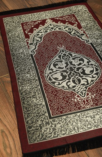 Claret Red Prayer Rug 0006-14
