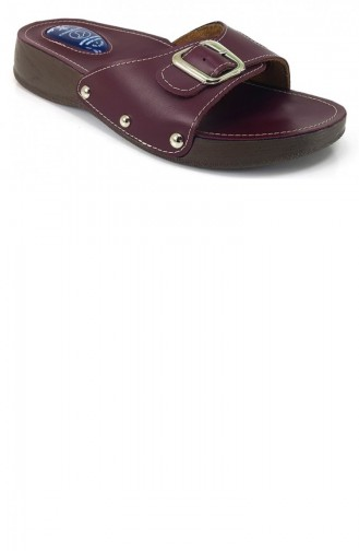 Claret Red Summer Slippers 7412
