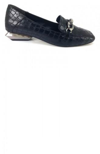حذاء مسطح أسود 7774