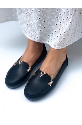 Black Woman Flat Shoe 1000