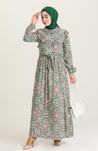 Robe Hijab Vert 71236-01