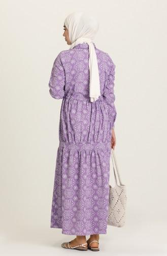 Lila Hijap Kleider 5467-01