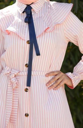 Coral Hijab Dress 4340C-03