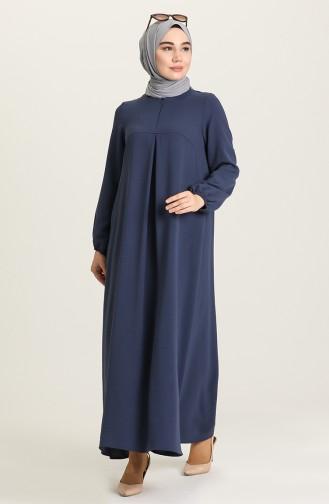 A Pile Elbise 4362-03 Lacivert