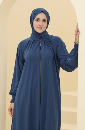 Oil Blue Abaya 0122A-04